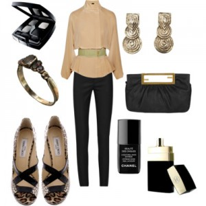 Fashion Collage including Art Deco